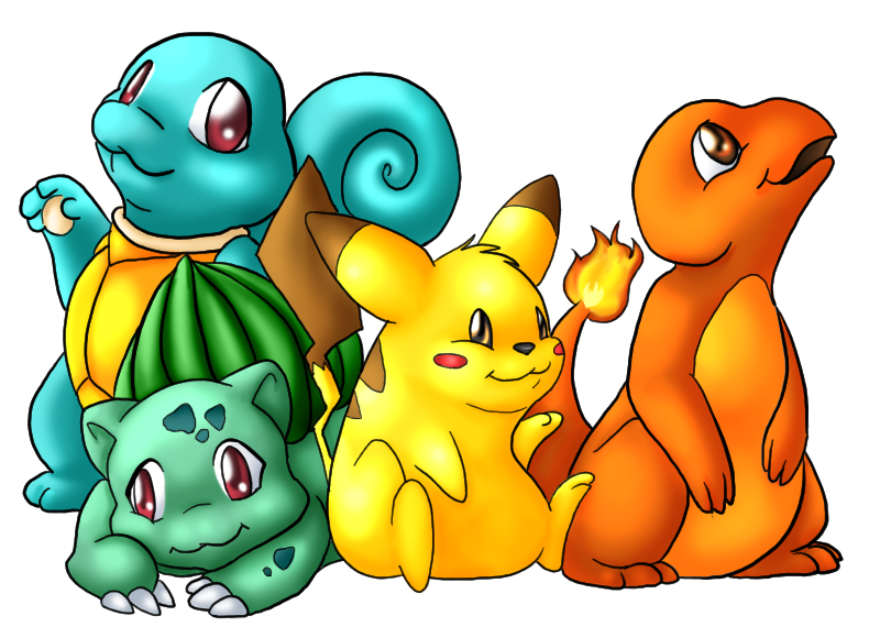 Squirtle Bulbasaur Pikachu.... by DiamondInTraining
