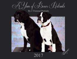 2017 Boxer portrait calendar by CT-AnimalPortraits
