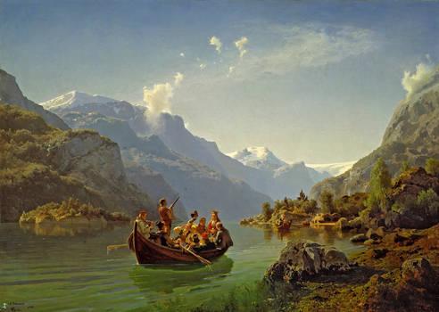 Brudeferd i Hardanger by Adolph Tidemand