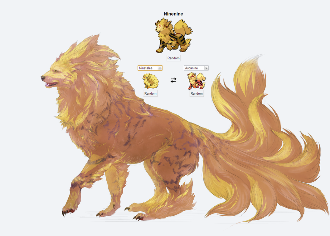 Bien connu Pokemon fusion, Ninenine by Roiuky on DeviantArt FE52