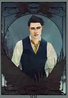 The Raven Prince - tarotcard by Roiuky