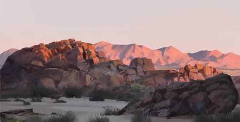 Land of birth - the burning rocks by Roiuky