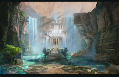 Land of birth - the palace under the falls by Roiuky