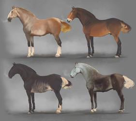 The Oragi war horse - Stallions of the four houses by Roiuky