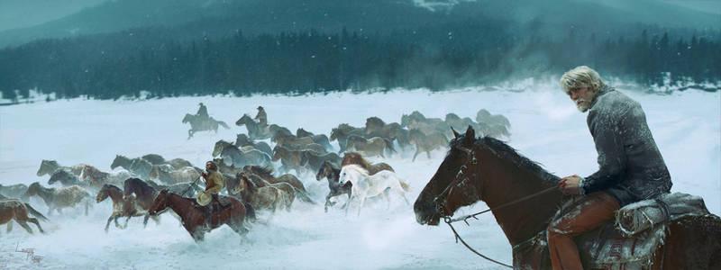 The herd of the white stallion