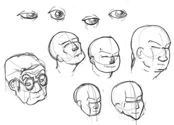 Working On Faces 001 by MacFaerley