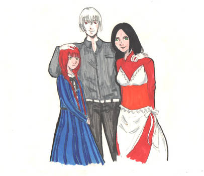 Michel, Giselle and Morgana