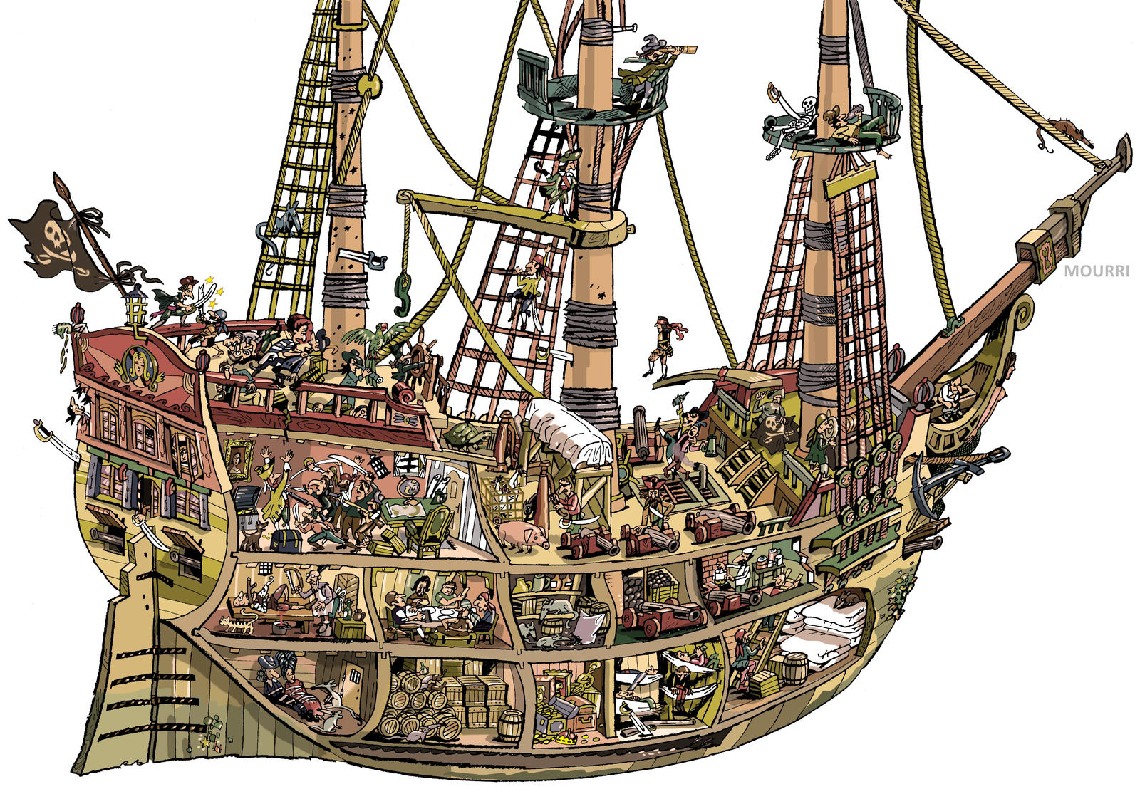 ships and pirate ship