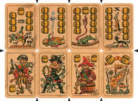 Pirate Cards - Barrels by mourri