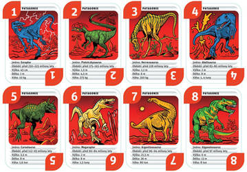 Dinosaur Cards - Patagonia by mourri