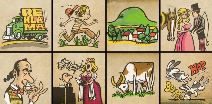 Eight small illustrations