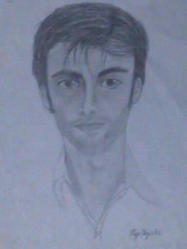 derpy David Tennant bust (pencil)
