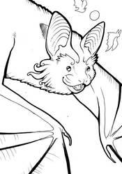 Indiana Bat Card Sketch by endangeredark