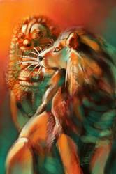 Asiatic Lion Card Sketch by endangeredark