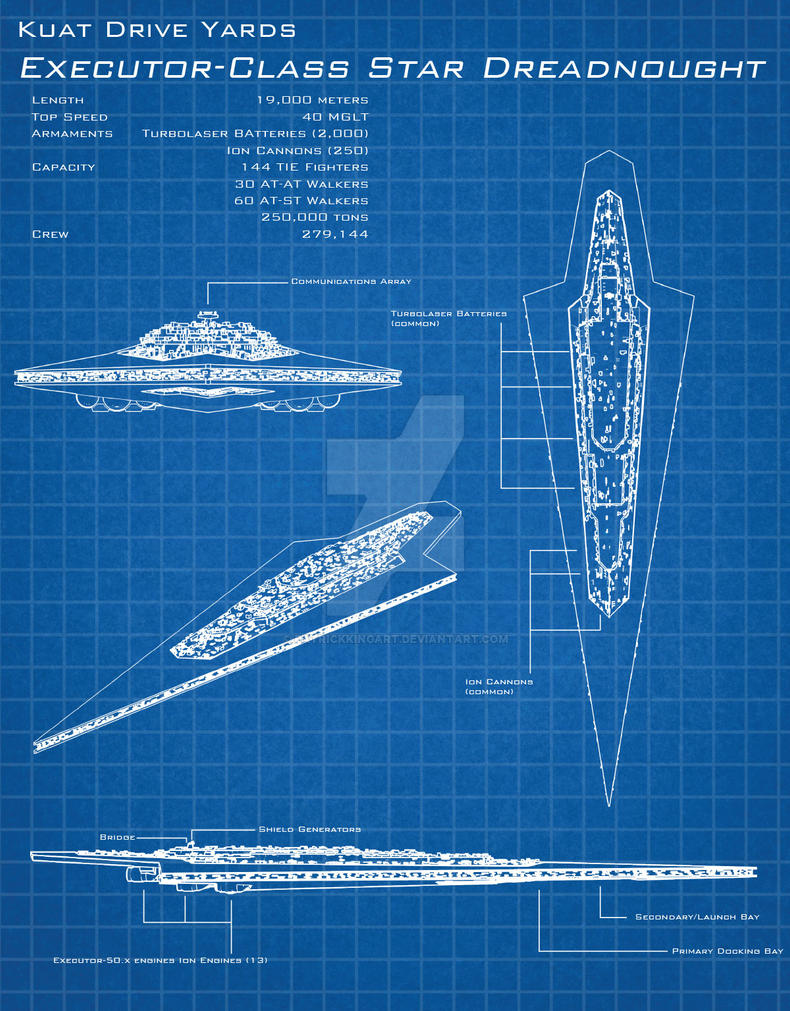 Super Star Wars Blueprints - Executor by patrickkingart on DeviantArt #HU59