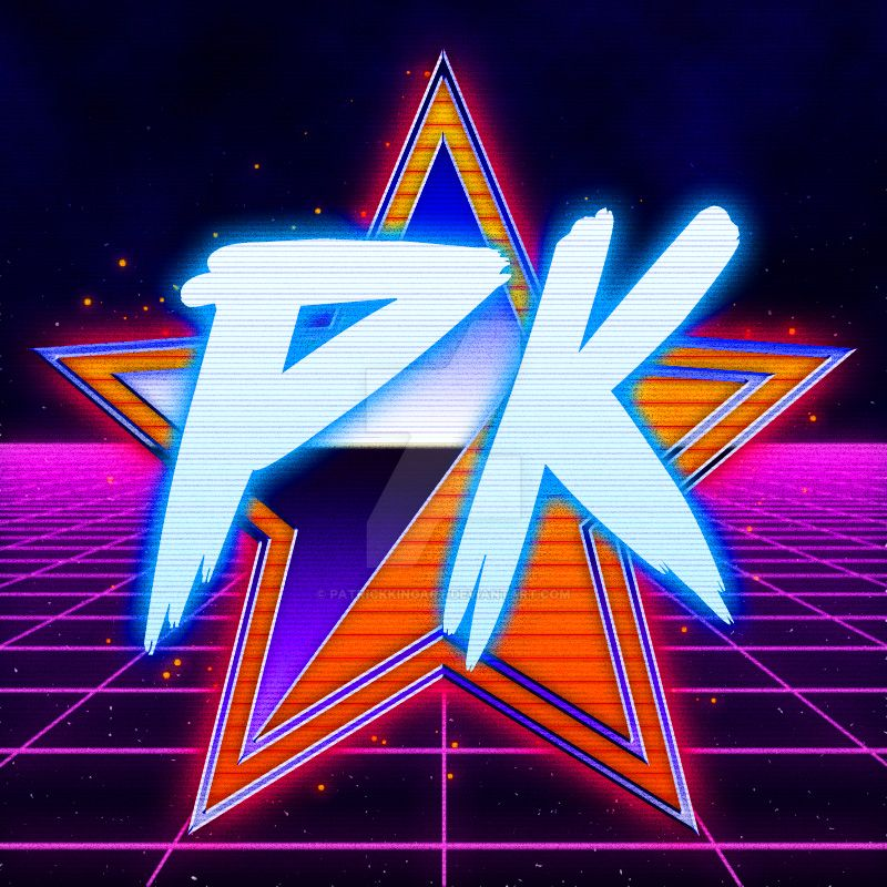 Outrun-ized Patrick King Art Logo by patrickkingart