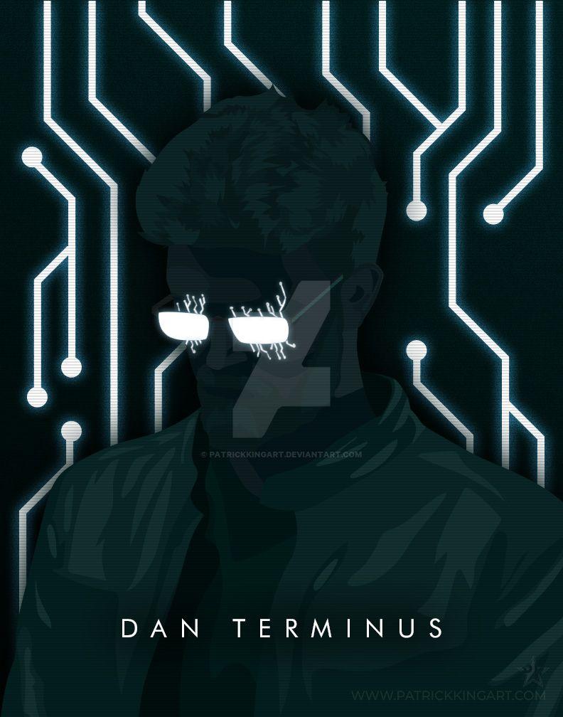 Synthwave Artist Portrait - Dan Terminus by patrickkingart
