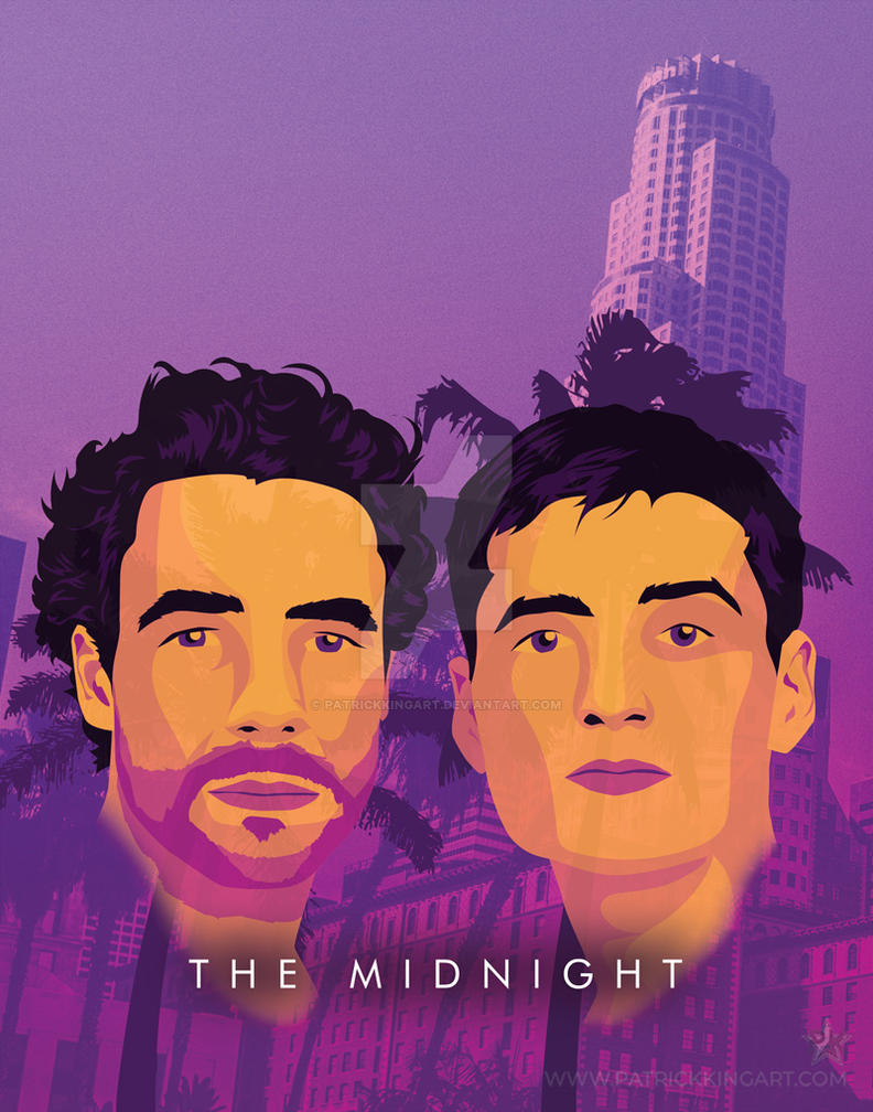 Synthwave Artist Portrait - The Midnight by patrickkingart