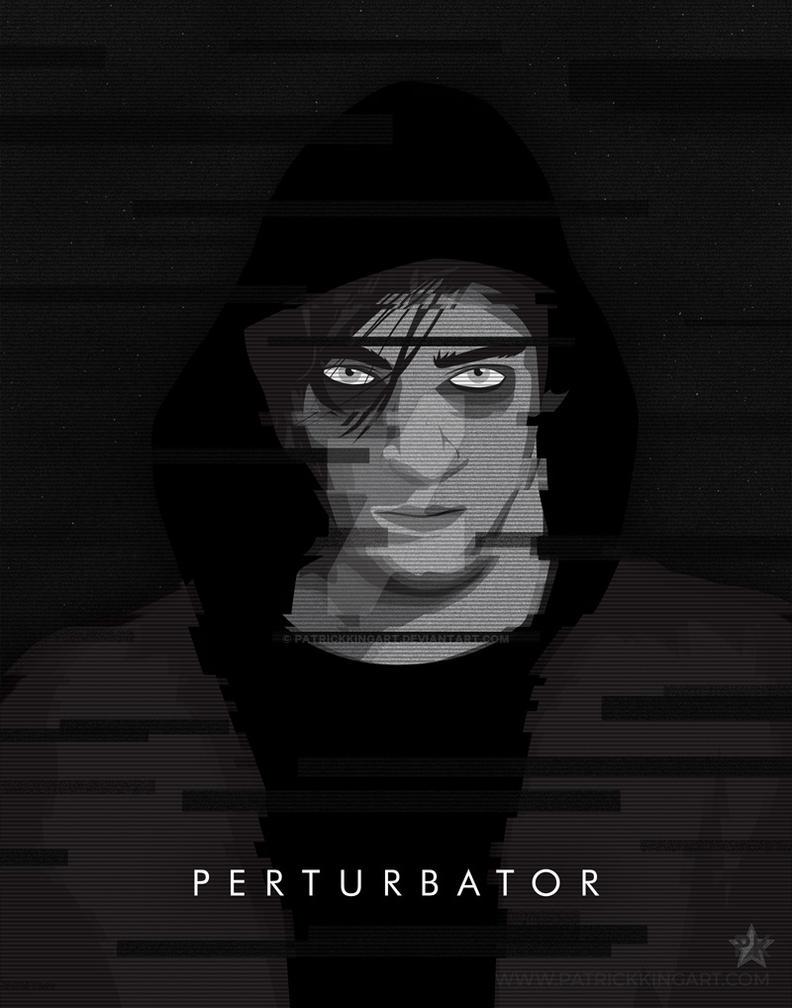 Synthwave Artist Portrait - Perturbator by patrickkingart