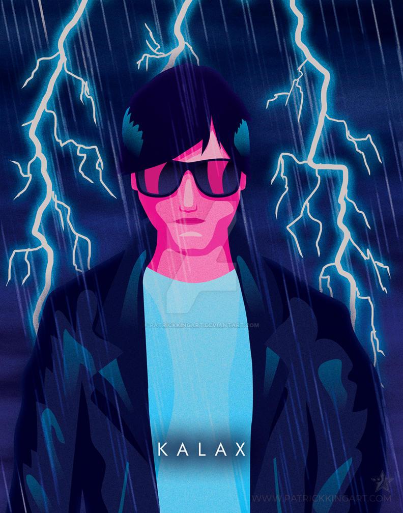 Synthwave Artist Portrait - Kalax by patrickkingart