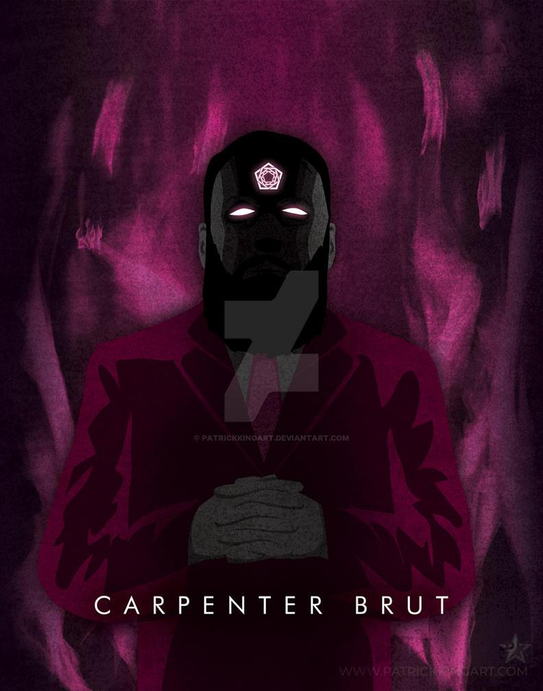 Synthwave Artist Portrait - Carpenter Brut by patrickkingart