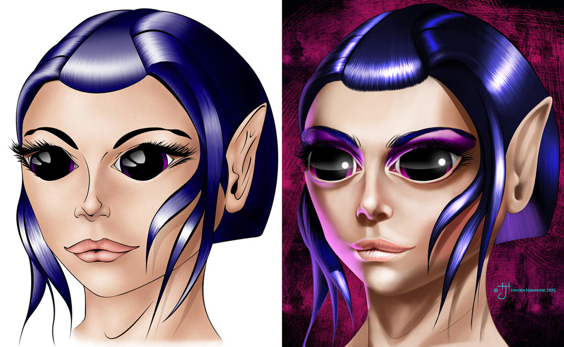 Elf Female - Comparison by haydenhammond