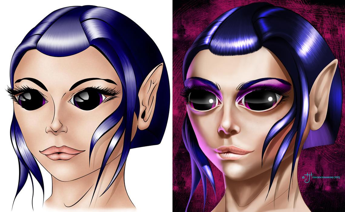 Elf Female - Comparison by haydenhammond