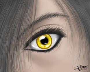 Yellow Eyes by Ailinon