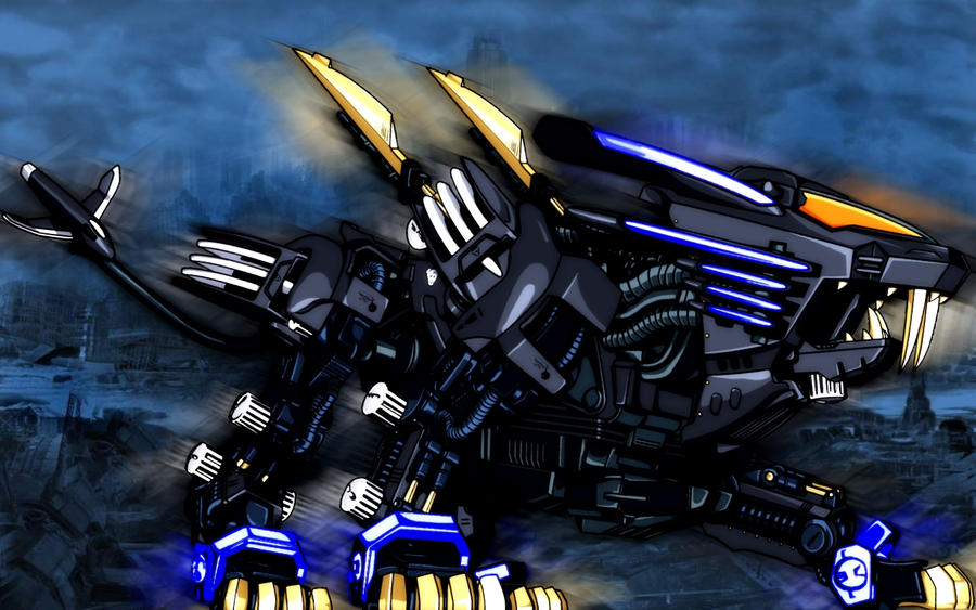 Zoids Shield Liger Blade Liger - Black in Blue by