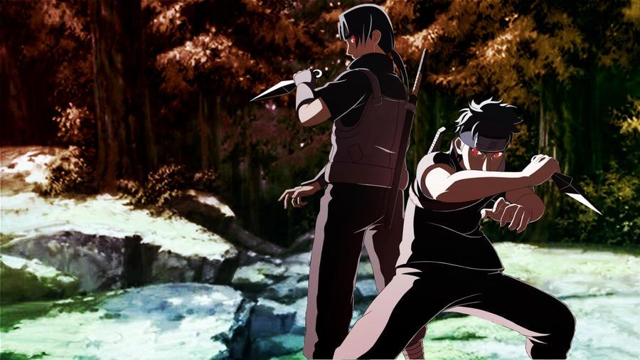 Itachi Shisui Anbu Ninja by falconfliesaloneShisui Uchiha And Itachi