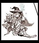 Inktober day 7 Fire Emblem Witch Hana by Syuzaki