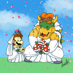 Mario and Bowser Wedding Easter Egg Hunt Prize!