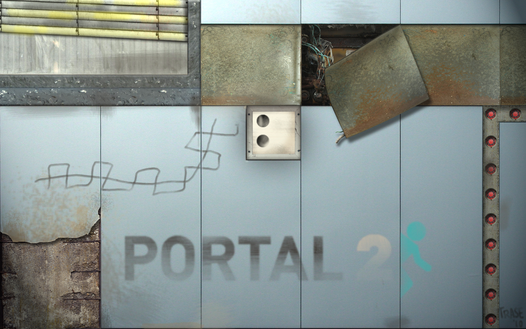 Portal 2 wallpaper from completely unreleated images
