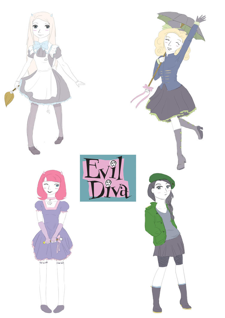 Evil diva - disguises colour 1 by hoshi-kou
