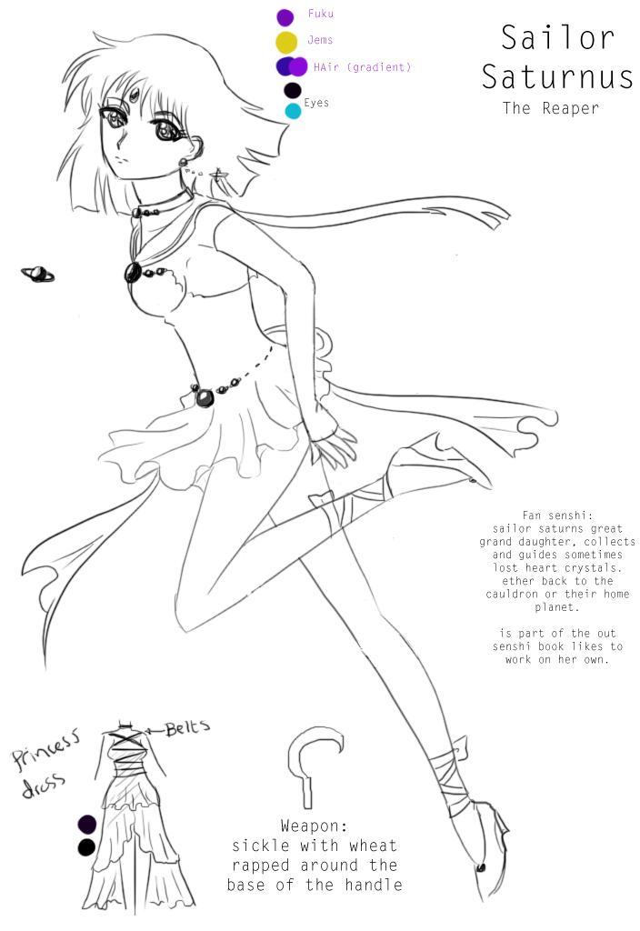 sailor Saturnus by hoshi-kou