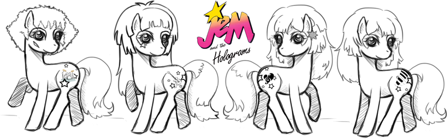 MLP - Jem and the Holograms by hoshi-kou