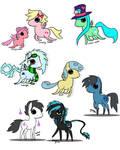 Pony chibis by hoshi-kou