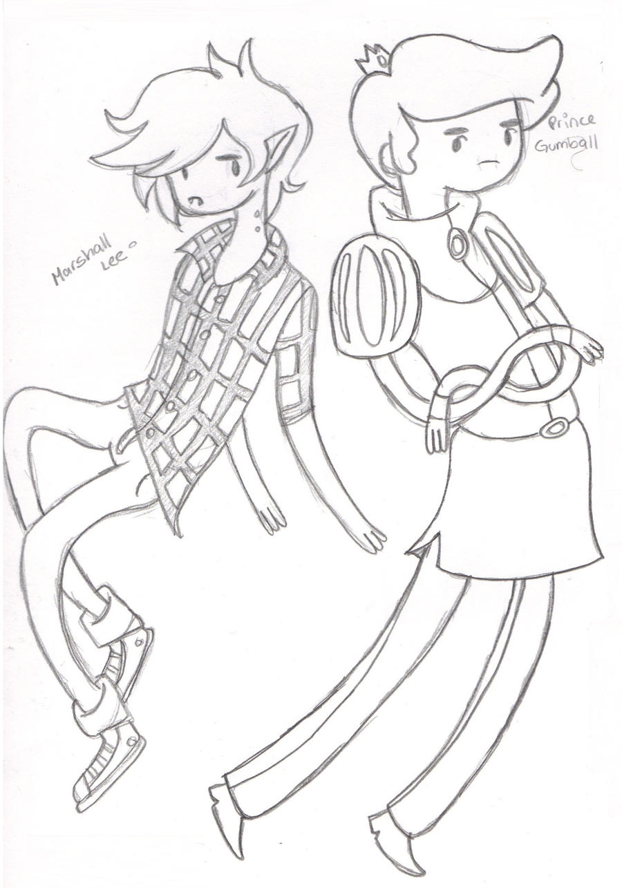 marshall lee and prince gumball by prntscr on deviantart