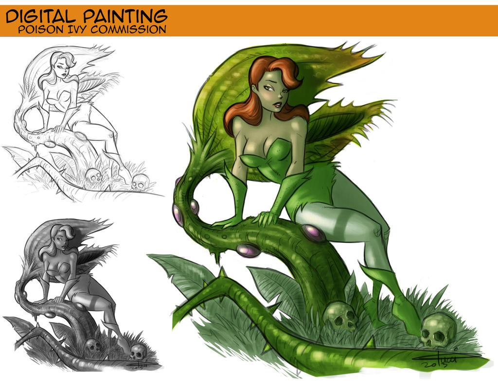 Poison Ivy Commission Development. by CarminePucci