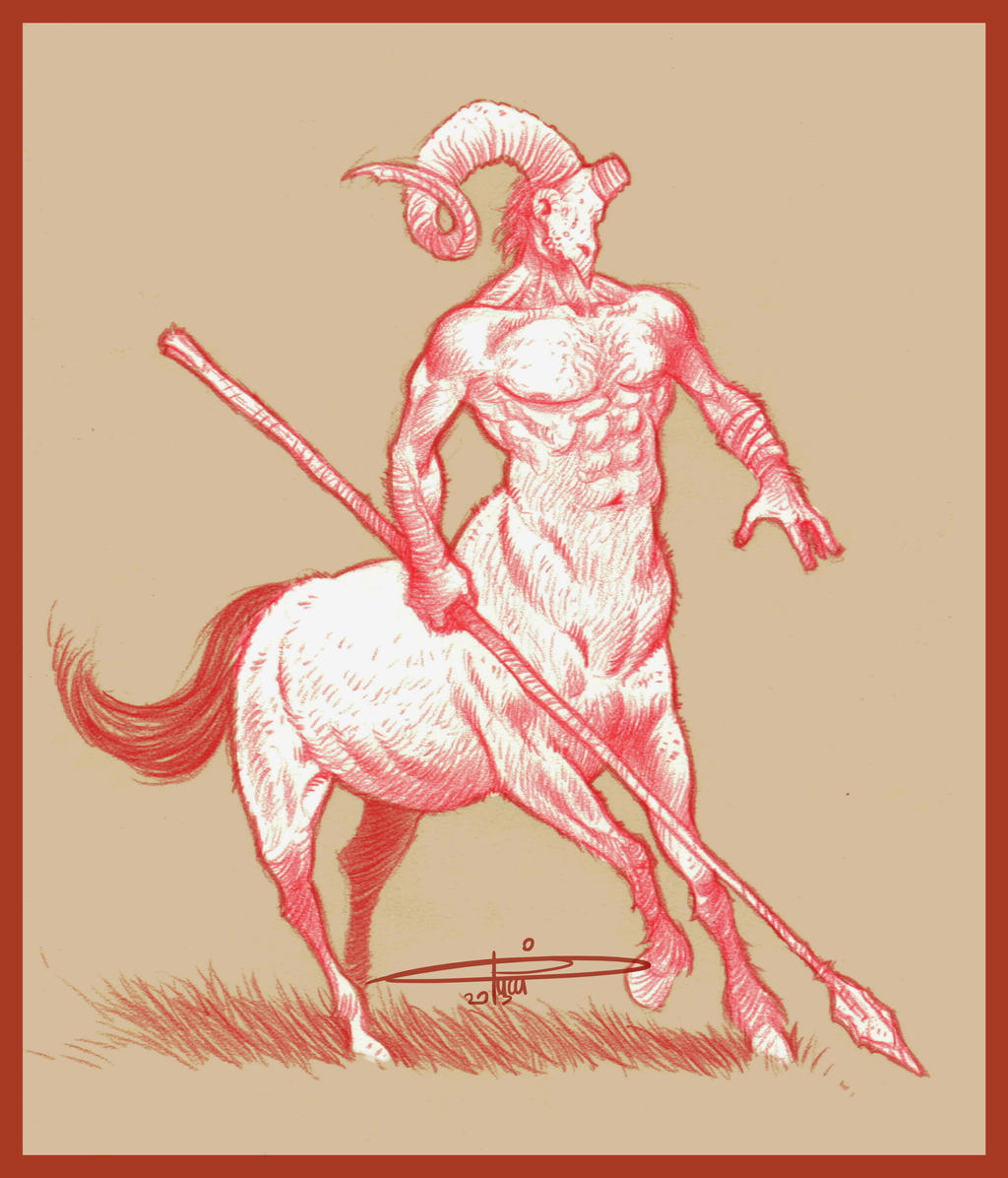 Centaur. Pencil study by CarminePucci