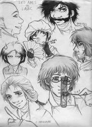 Les Amis character sheet by cillabub