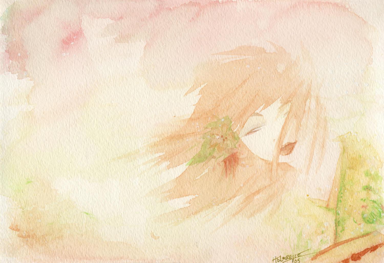Watercolor Girl by cillabub