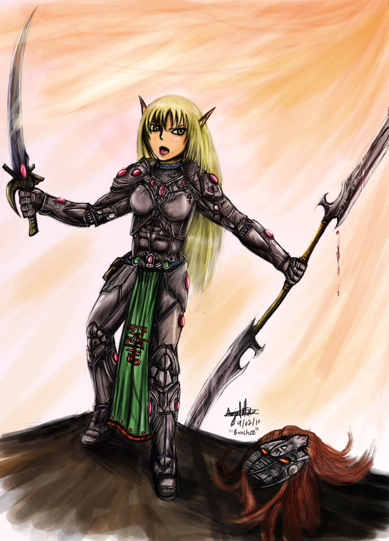 Eldar Banshee Exarch by Blondelover
