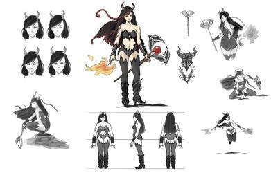 Female character by Darktaru