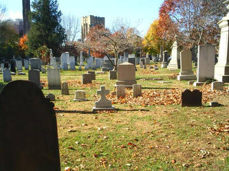 Graveyards in the fall by DragonStar11102