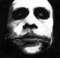 Heath Ledger's Joker by HyBrId--