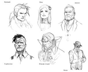 castlevania portrait sketches by AlexPascenko