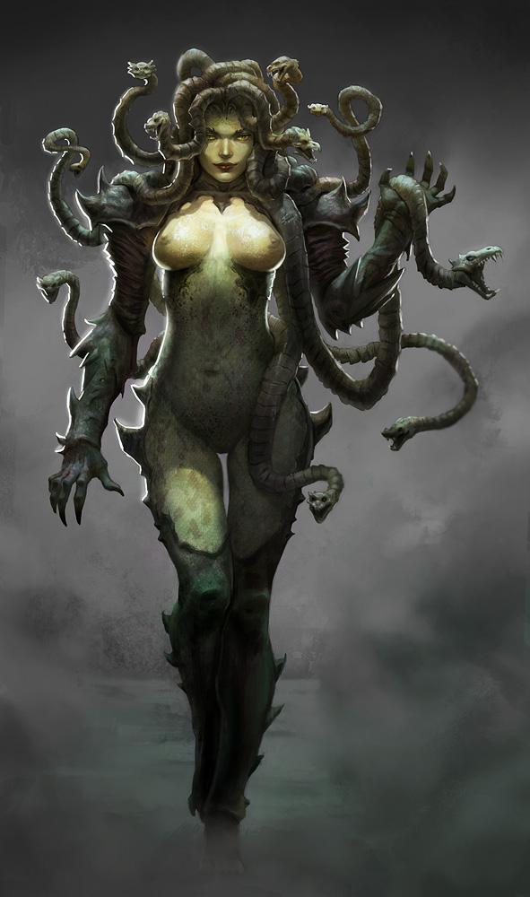 Les Transformation d'Elise. Medusa_by_alexpascenko-d59od8n