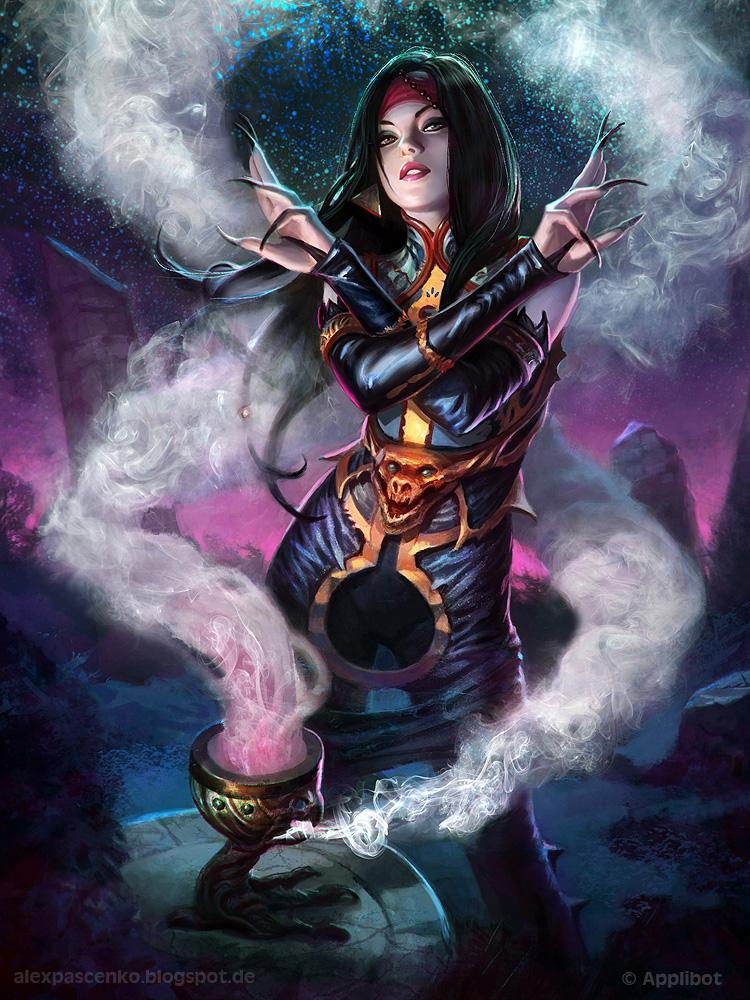 Galeria de Arte: Ficção & Fantasia 1 Witch_regular_version_by_alexpascenko-d6b6qi2