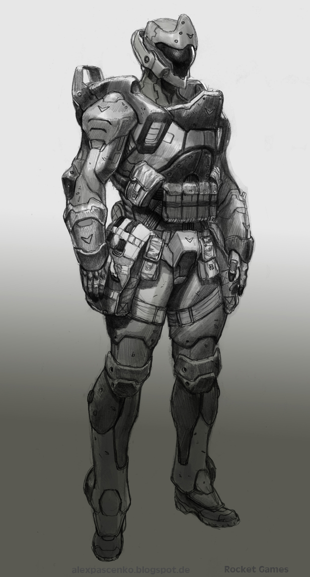 Heavy infantry Manticore by AlexPascenko